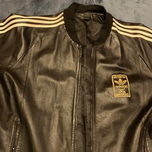 Adidas leather vintage limited edition 35th anniversary coat